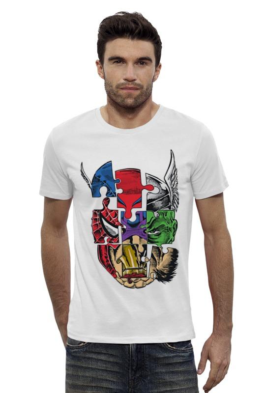 Футболка Wearcraft Premium Slim Fit Printio Супергерои мстители футболка wearcraft premium slim fit printio мстители лего