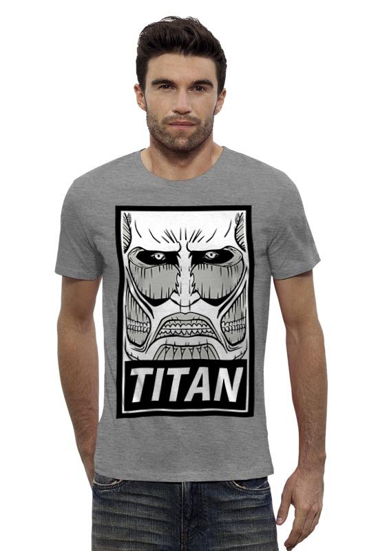 Футболка Wearcraft Premium Slim Fit Printio Атака титанов (attack on titan) толстовка wearcraft premium унисекс printio атака титанов