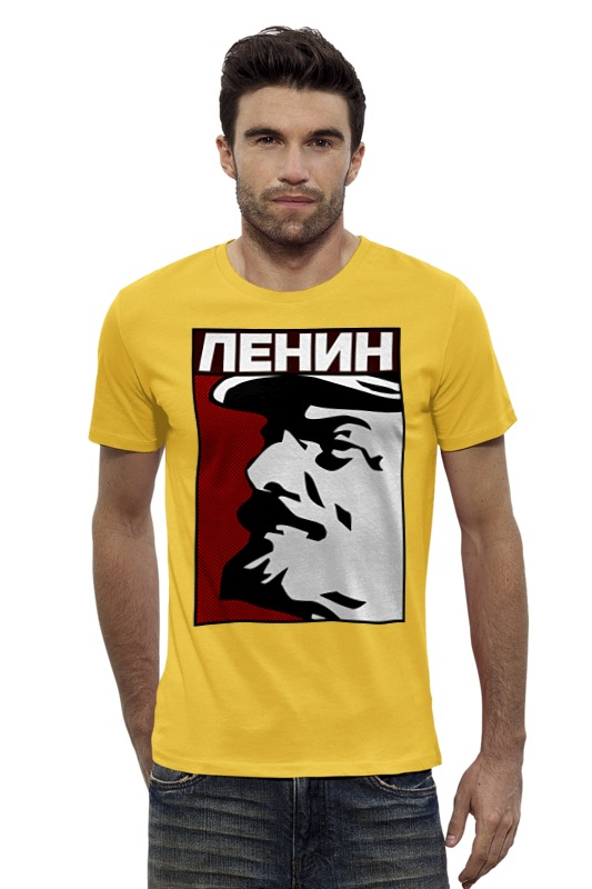 Футболка Wearcraft Premium Slim Fit Printio Ленин коммунист