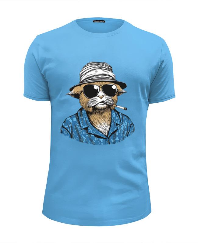 Футболка Wearcraft Premium Slim Fit Printio Hunter s. thompson cat футболка для беременных printio hunter s thompson cat