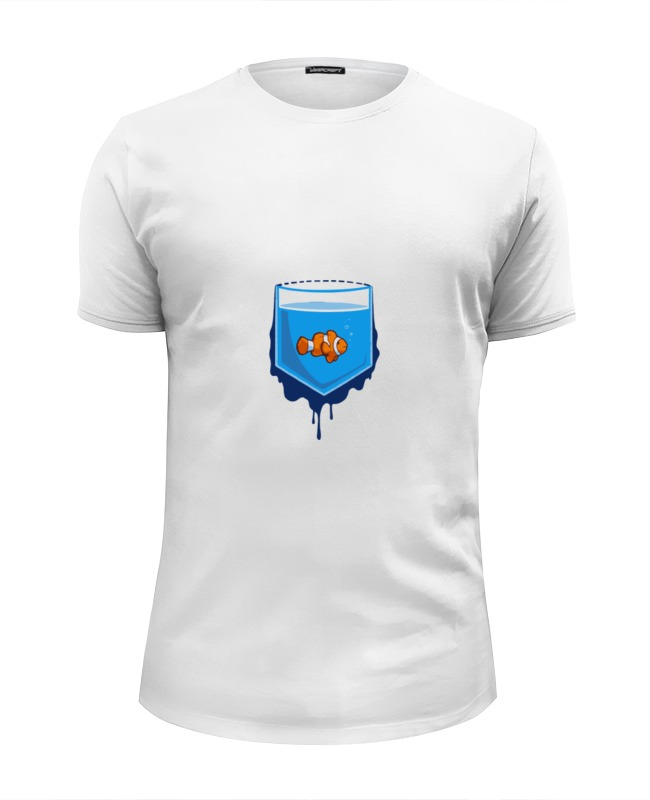 Футболка Wearcraft Premium Slim Fit Printio Рыбка в кормане футболка wearcraft premium slim fit printio ромашка в рам