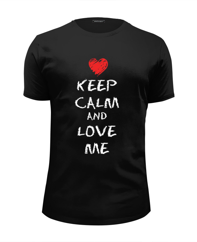 Футболка Wearcraft Premium Slim Fit Printio Love me футболка wearcraft premium slim fit printio i love ny