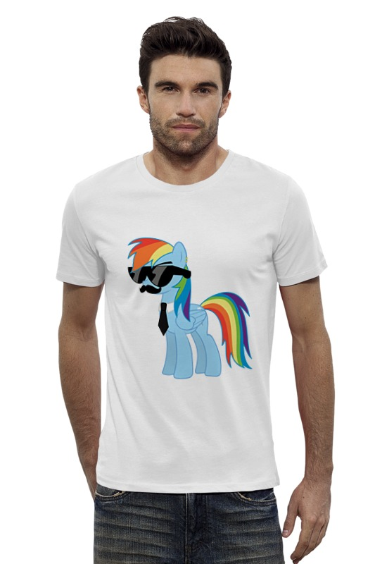 Футболка Wearcraft Premium Slim Fit Printio My little pony - rainbow dash (радуга) хасбро hаsbro b3604 b8074 my little pony игровой мейнхеттен rainbow dash