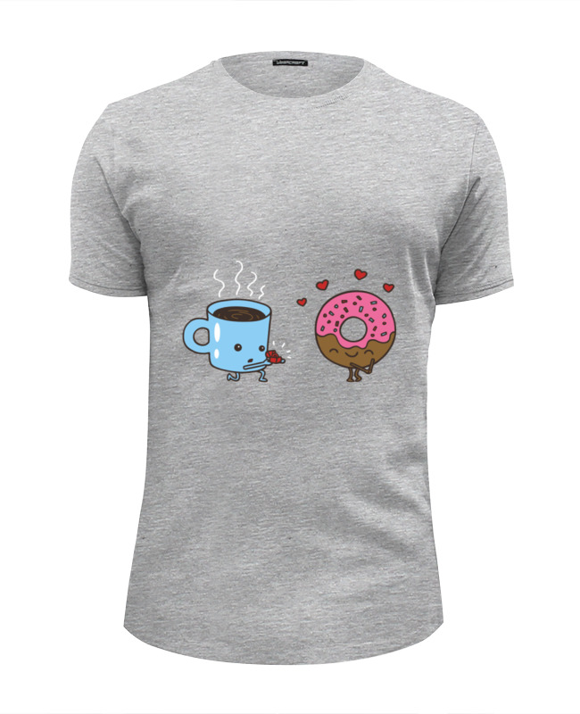 Футболка Wearcraft Premium Slim Fit Printio Кофе и пончик футболка wearcraft premium slim fit printio демонический пончик