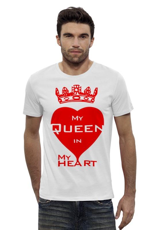 Футболка Wearcraft Premium Slim Fit Printio My queen in my heart огонь в твоём сердце