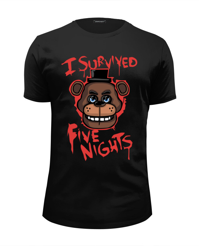 Футболка Wearcraft Premium Slim Fit Printio Five nights at freddy high five