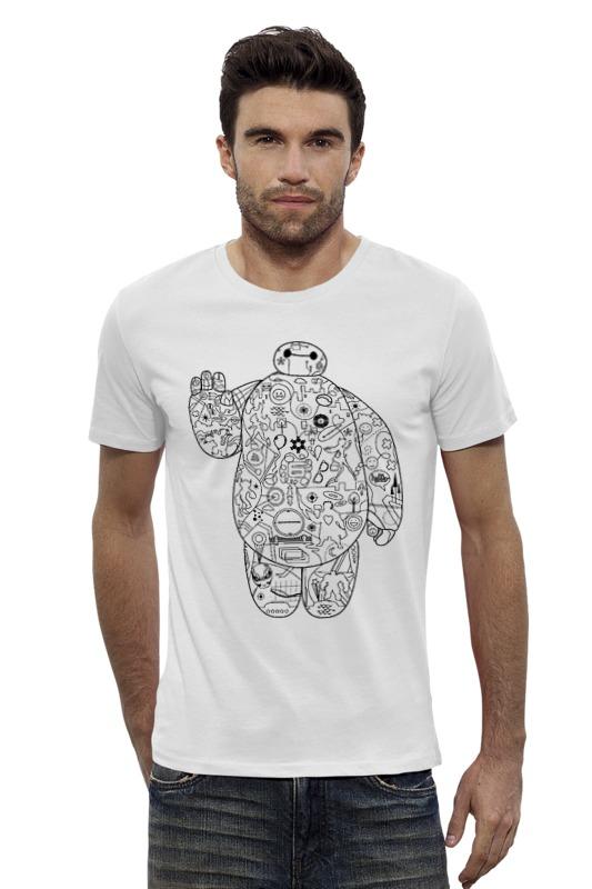 Футболка Wearcraft Premium Slim Fit Printio Тату бэймакс футболка wearcraft premium slim fit printio баймакс город героев
