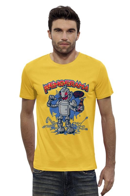 Футболка Wearcraft Premium Slim Fit Printio Робот хулиган футболка wearcraft premium slim fit printio хулиган