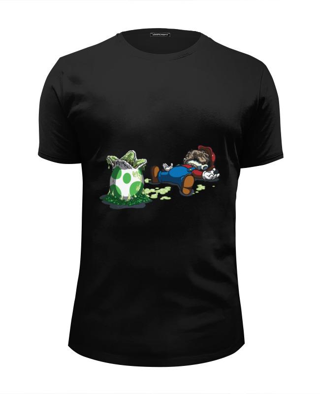 Футболка Wearcraft Premium Slim Fit Printio Mario and alien / марио и чужой лонгслив printio mario and alien марио и чужой