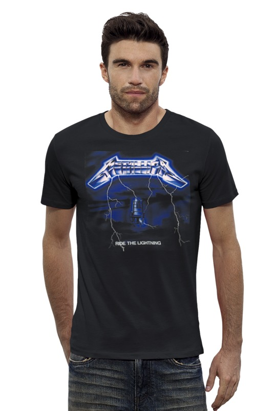 Футболка Wearcraft Premium Slim Fit Printio Metallica ride the lighting ride the dragon 38