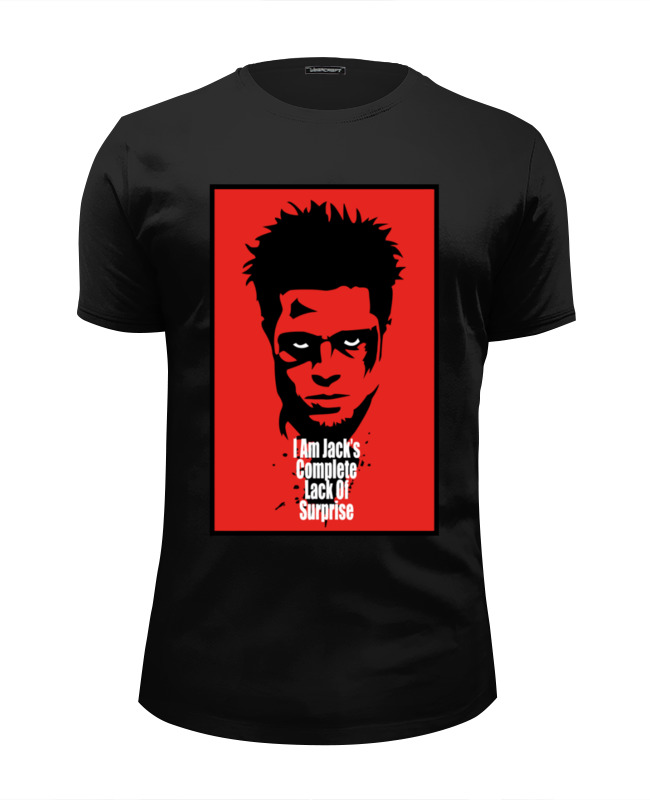 Футболка Wearcraft Premium Slim Fit Printio Tyler durden (fight club) все цены