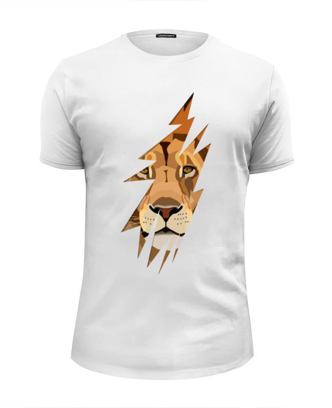 Футболка Wearcraft Premium Slim Fit Printio Лев (lion)