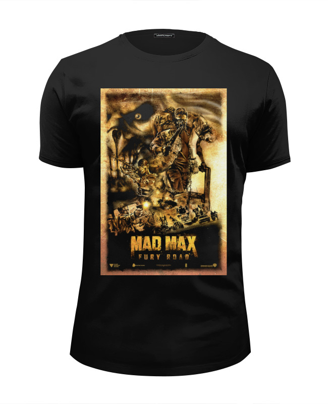 Футболка Wearcraft Premium Slim Fit Printio Mad max / безумный макс футболка wearcraft premium printio безумный макс mad max