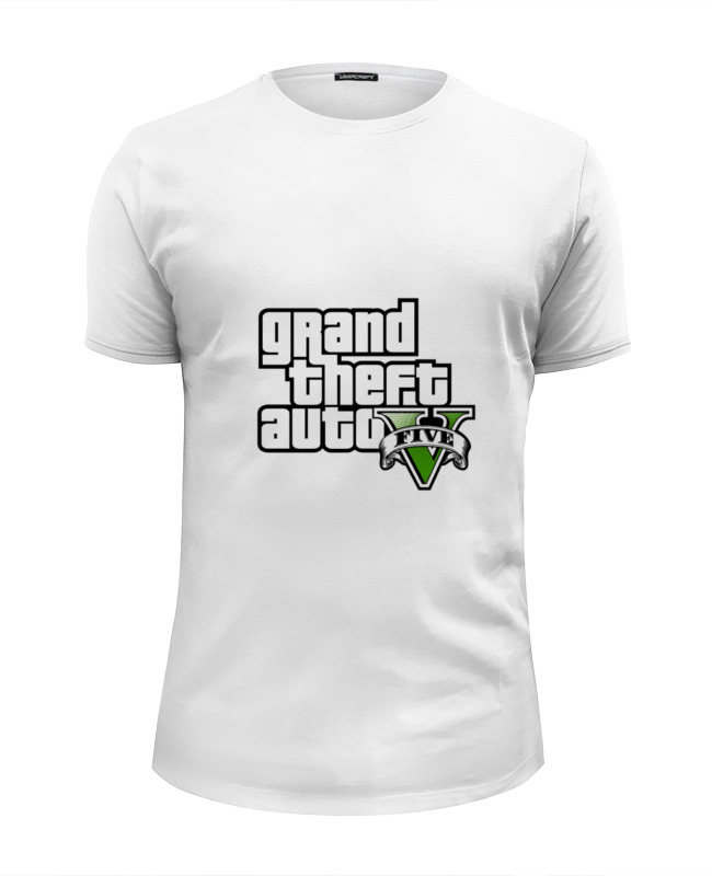 Футболка Wearcraft Premium Slim Fit Printio Grand theft auto v grand theft auto v [xbox 360]