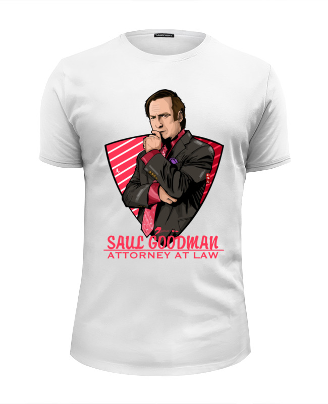 Футболка Wearcraft Premium Slim Fit Printio Saul goodman (better call saul) saul s fall