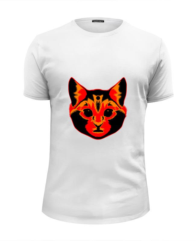 Футболка Wearcraft Premium Slim Fit Printio Голова кота футболка wearcraft premium printio голова кролика