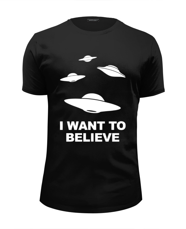 Футболка Wearcraft Premium Slim Fit Printio I want to believe (x-files) футболка i want to believe