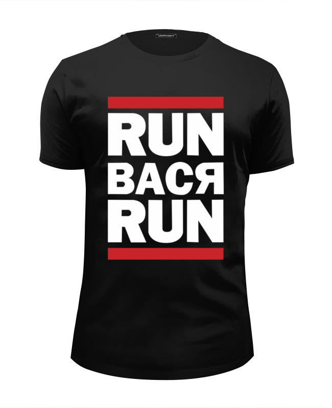 Футболка Wearcraft Premium Slim Fit Printio Run вася run футболка run dmc