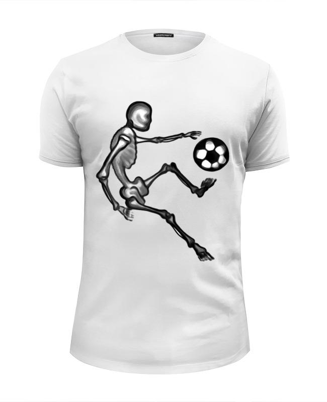 Футболка Wearcraft Premium Slim Fit Printio Скелет играет в футбол beauty women кардиган бьюти вуман lt3561 1016 черно белый s m черно белый
