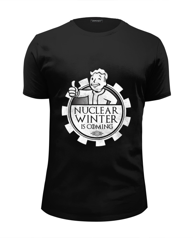 Футболка Wearcraft Premium Slim Fit Printio Fallout. nuclear winter is coming футболка wearcraft premium slim fit printio fallout new vegas