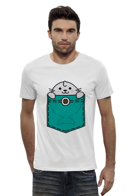 Футболка Wearcraft Premium Slim Fit Printio Тюлень футболка wearcraft premium slim fit printio avengers