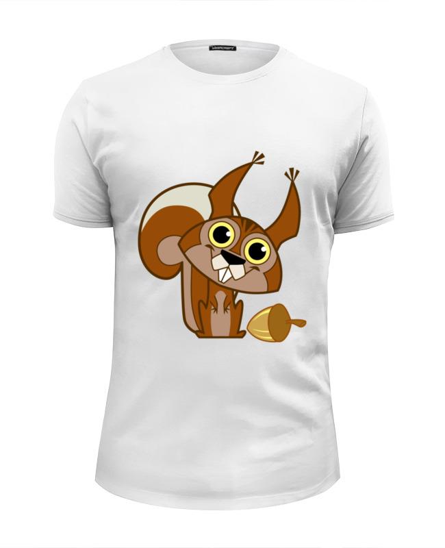 Футболка Wearcraft Premium Slim Fit Printio Белочка футболка wearcraft premium printio белочка
