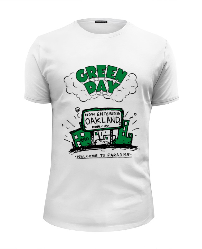 Футболка Wearcraft Premium Slim Fit Printio Green day