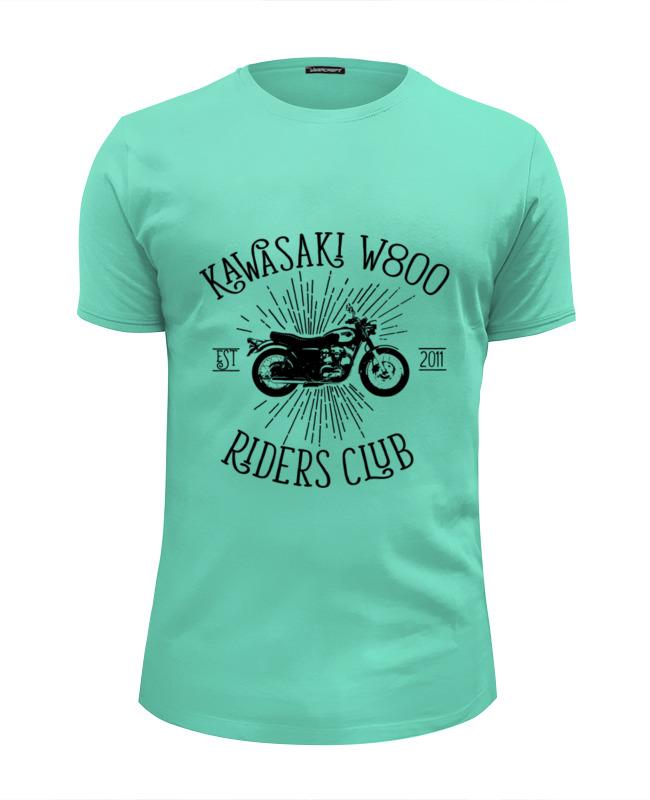 Футболка Wearcraft Premium Slim Fit Printio Kawasaki w800 riders club