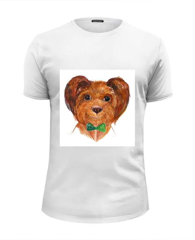 Футболка Wearcraft Premium Slim Fit Printio Собака футболка классическая printio акварельная новогодняя забавная собака