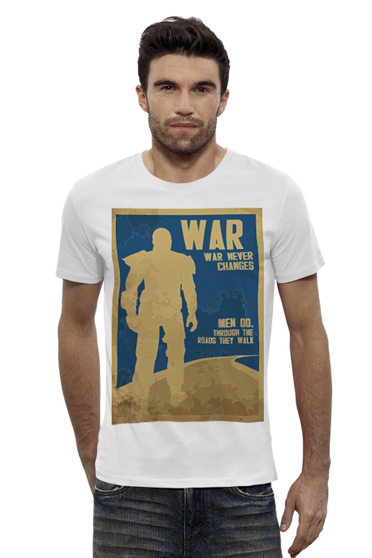 Футболка Wearcraft Premium Slim Fit Printio Fallout - war never changes футболка print bar war war never changes