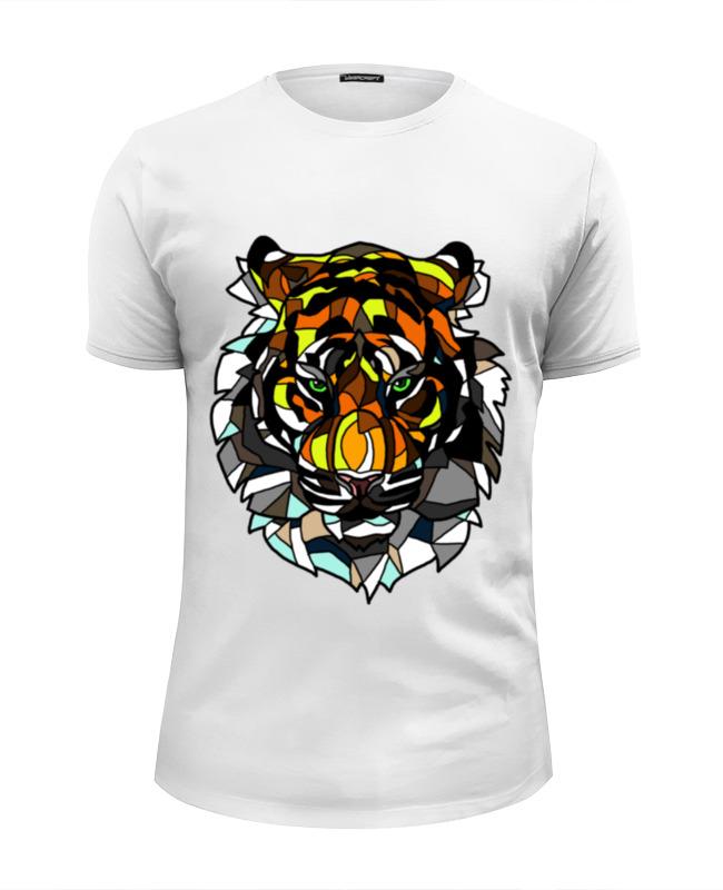 Футболка Wearcraft Premium Slim Fit Printio Морда тигра детская футболка классическая унисекс printio морда тигра
