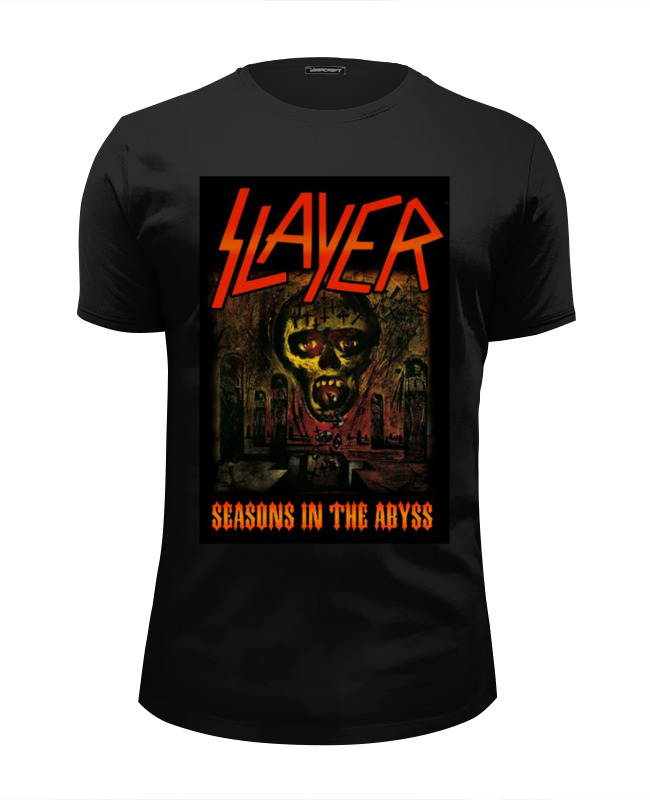 Футболка Wearcraft Premium Slim Fit Printio Slayer-season in the abyss 1990 футболка с полной запечаткой для девочек printio slayer season in the abyss 1990