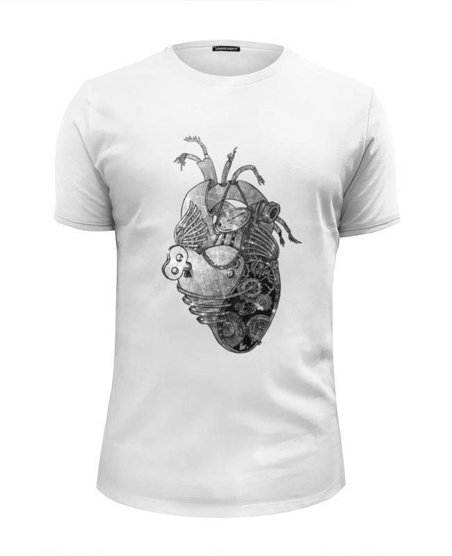 Футболка Wearcraft Premium Slim Fit Printio Стимпанк сердце ws 279 статуэтка в стиле стимпанк водолаз 1212392