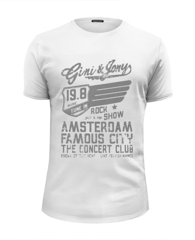Футболка Wearcraft Premium Slim Fit Printio Gini & jony boy amsterdam rock show футболка lin show 367