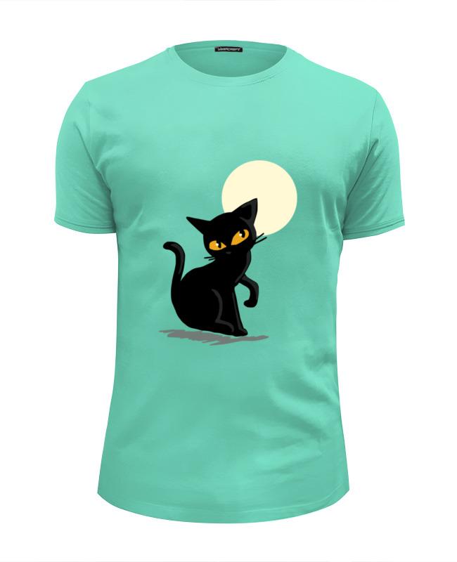 Футболка Wearcraft Premium Slim Fit Printio Черная кошка футболка wearcraft premium slim fit printio black cat черная кошка