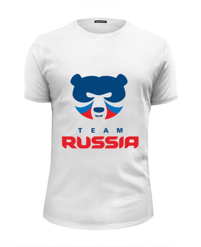 Футболка Wearcraft Premium Slim Fit Printio Russia team футболка wearcraft premium slim fit printio north star team