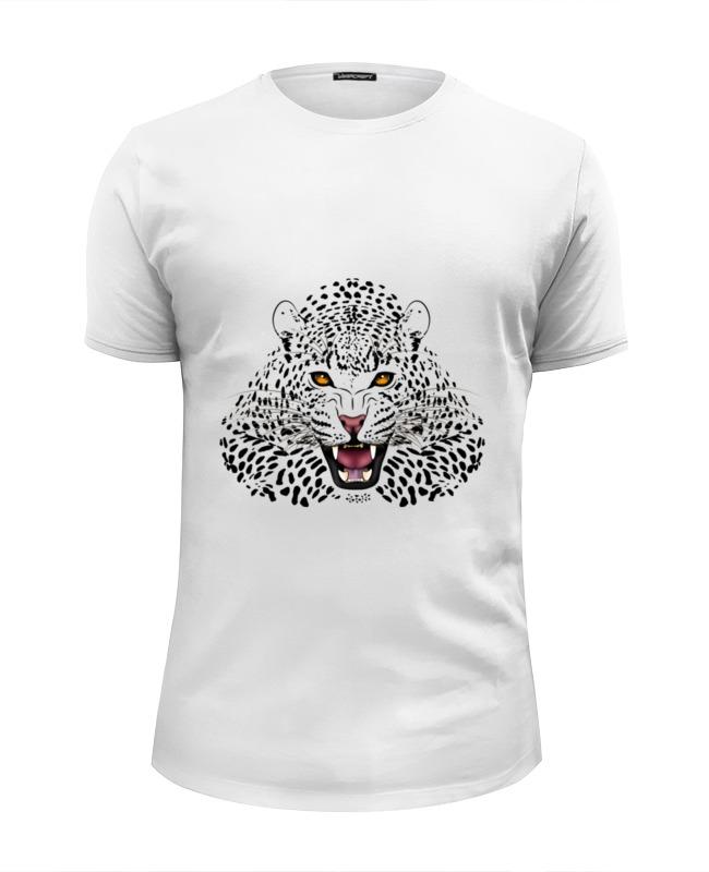 Футболка Wearcraft Premium Slim Fit Printio Леопард азбука леопард