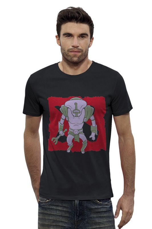 Футболка Wearcraft Premium Slim Fit Printio Faceless void confronting a faceless enemy
