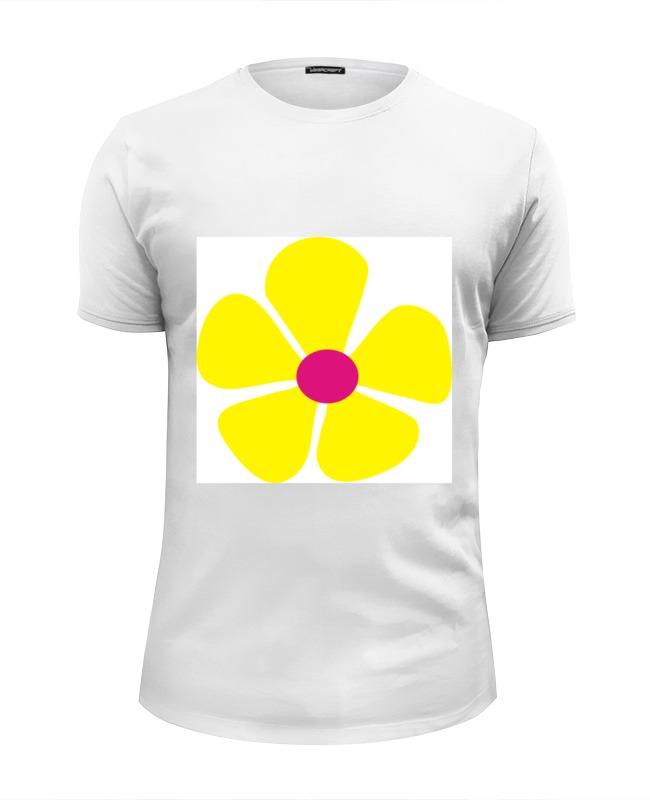 Футболка Wearcraft Premium Slim Fit Printio Жнлтый цветок футболка wearcraft premium slim fit printio черный цветок