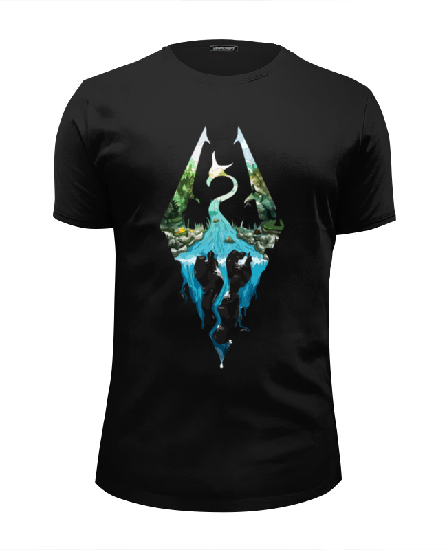 Футболка Wearcraft Premium Slim Fit Printio Skyrim футболка print bar skyrim