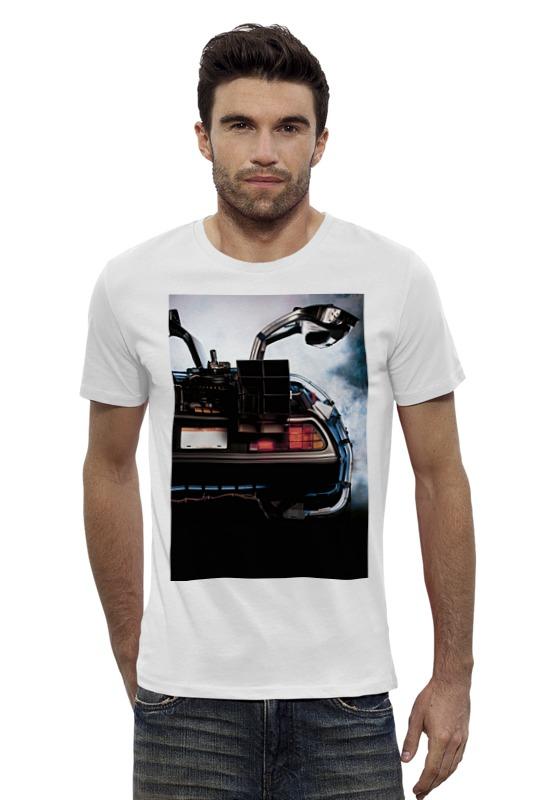Футболка Wearcraft Premium Slim Fit Printio Назад в будущее / back to the future толстовка wearcraft premium унисекс printio back to the future ii