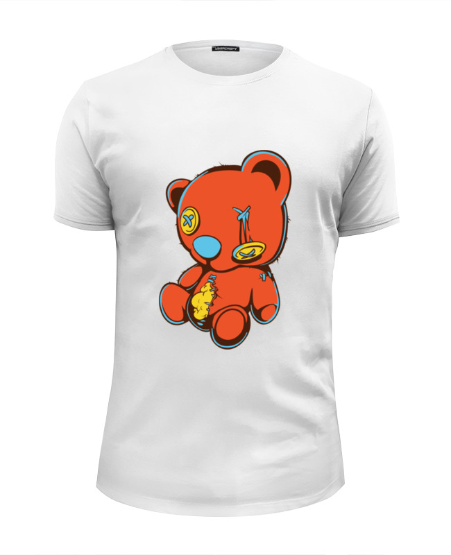 Футболка Wearcraft Premium Slim Fit Printio Dead teddy bear майка классическая printio dead teddy bear