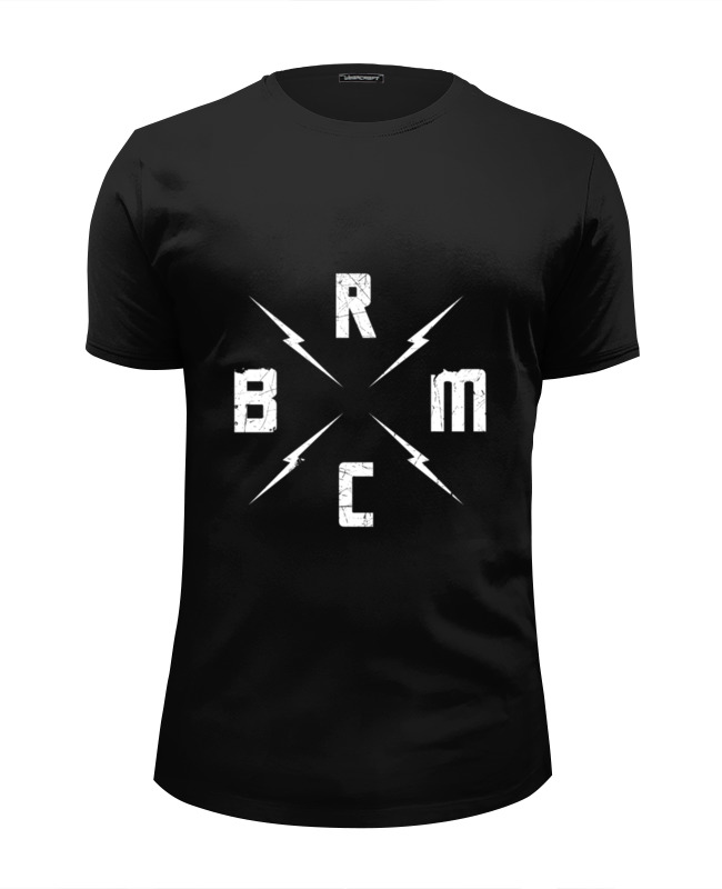 Футболка Wearcraft Premium Slim Fit Printio Black rebel motorcycle club