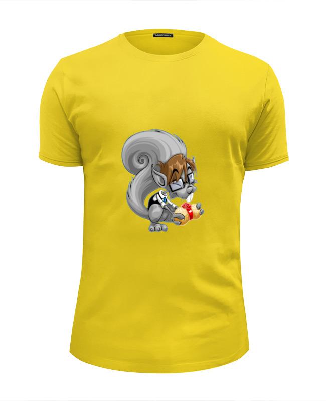 Футболка Wearcraft Premium Slim Fit Printio Белка с орехом футболка классическая printio белка с орехом