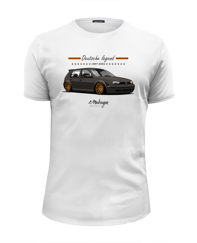 Футболка Wearcraft Premium Slim Fit Printio Vw golf iv лампа для чтения ouou 8 smd canbus vw golf 4 iv 1j1 1j5