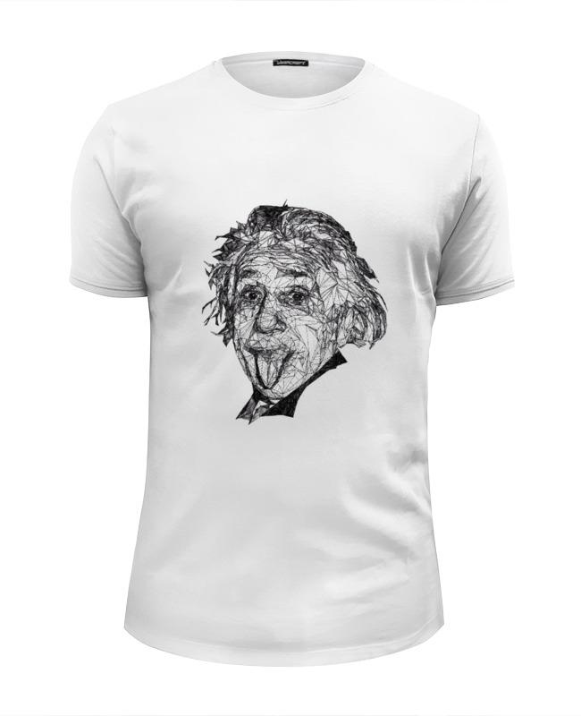 все цены на Футболка Wearcraft Premium Slim Fit Printio Альберт эйнштейн онлайн