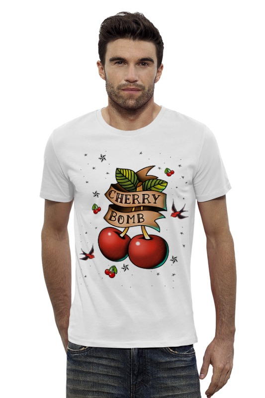 Футболка Wearcraft Premium Slim Fit Printio Cherry bomb пуф dreambag круг cherry