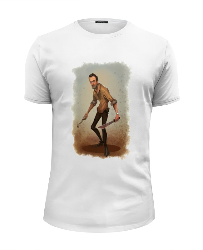 Футболка Wearcraft Premium Slim Fit Printio The walking dead rick