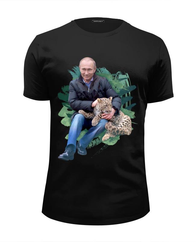 Футболка Wearcraft Premium Slim Fit Printio Путин с леопардом футболка wearcraft premium slim fit printio путин   герой