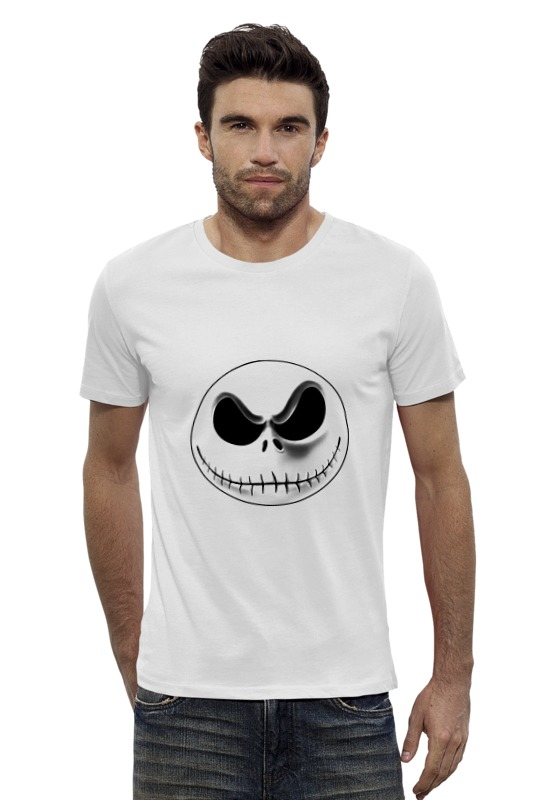 Футболка Wearcraft Premium Slim Fit Printio Jack skellington (джек скеллингтон) футболка wearcraft premium printio веселый джек
